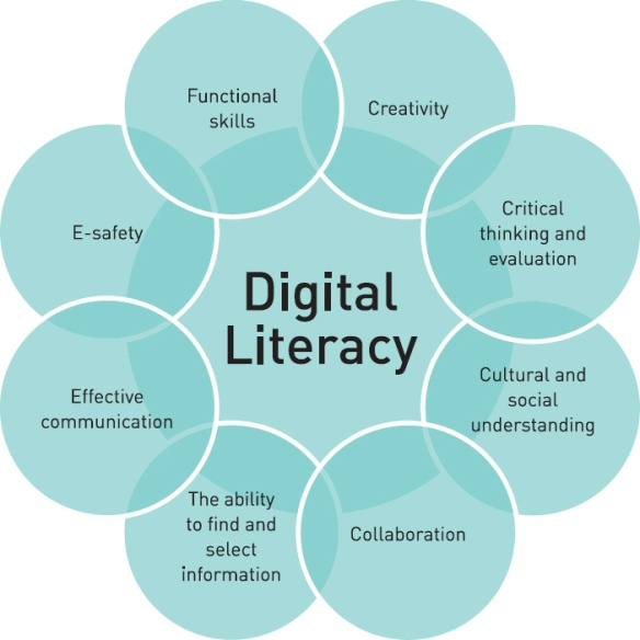 Futurelab Digital Literacy diagram