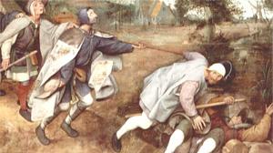 The blind leading the blind by  Pieter Bruegel the Elder, 1568
