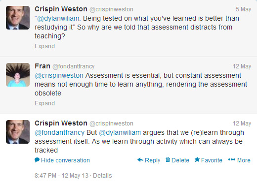 Twitter conversation on assessment