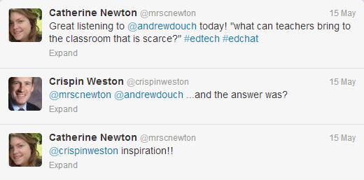 Twitter conversation on inspiration