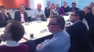 The first meeting of ETAG, attended by Michael Gove and Mat Hancock